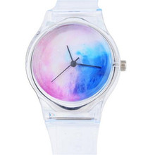 Transparent Clock Silicone Watches Women Sport Casual Quartz Wristwatches Novelty Crystal Ladies Watch Cartoon reloj mujer hot