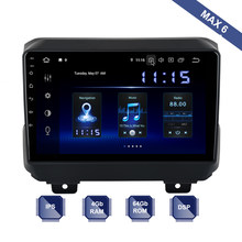 Android 9.0 Din GPS para Jeep Wrangler 2018 2019 DSP PX6 2 IPS HDMI 4Gb + 64Gb RDS WIFI carplay OBD BT USB AUX Mapa livre(China)