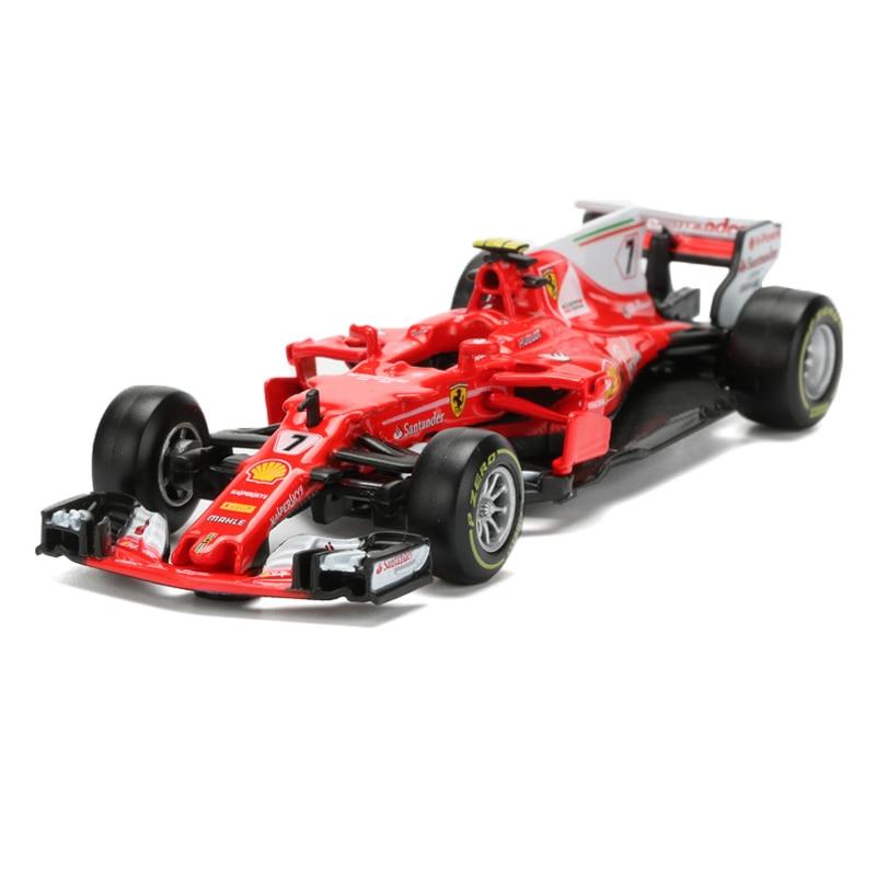 BBurago Racing Car Model Toy 1:43 Diecast & ABS F1 Formula Car Toy Simulation SF70H NO.7 Alloy Model Children's Toys Juguetes