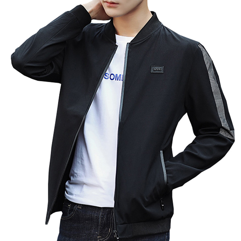 2018 Brand Spring Men Casual Bomber Jacket Coat Men Hip Hop Solid Pilot Outerwear Street ...