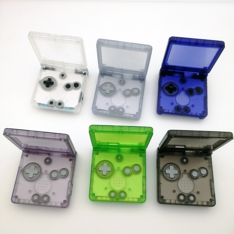 10pcs lot Clear Green glacier Clear white Clear purple For GameBoy Advance SP Shell For GBA