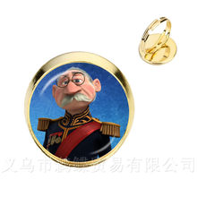 Fashion Rings Elsa Anna Olaf Cartoon Girl Jewelry Round Silver/Golden Plated Ring Gift For Friends Shipping(China)