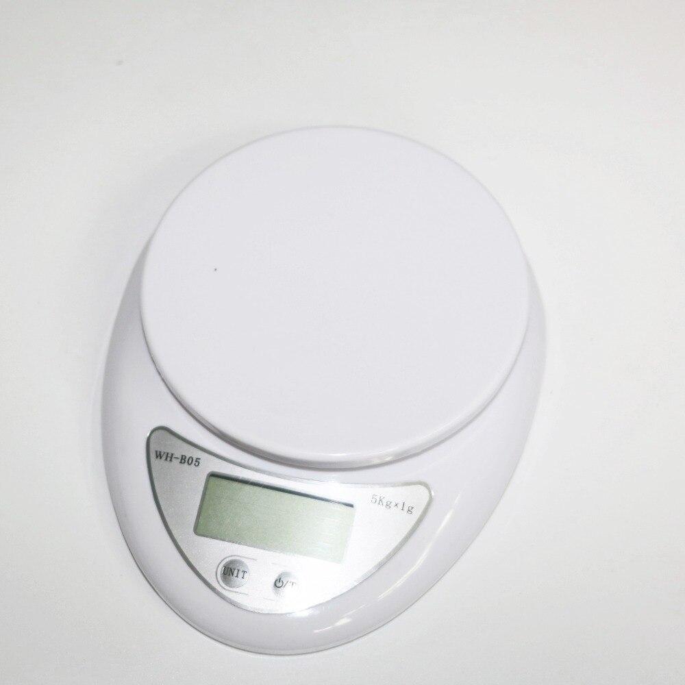 5000g 1g escalas cocina electrónica peso escala Digital de bolsillo 5 kg WH-B05
