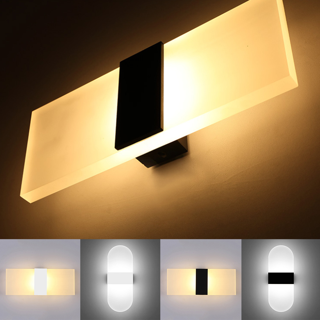3W Led Acrylic Wall Lamp AC85-265V Wall Mounted Sconce Lights Lamp Decorative Living Room Bedroom Corridor Wall Lights