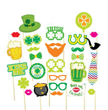 27pcs ST PATRICKS DAY PHOTO PROPS include four leaf clover