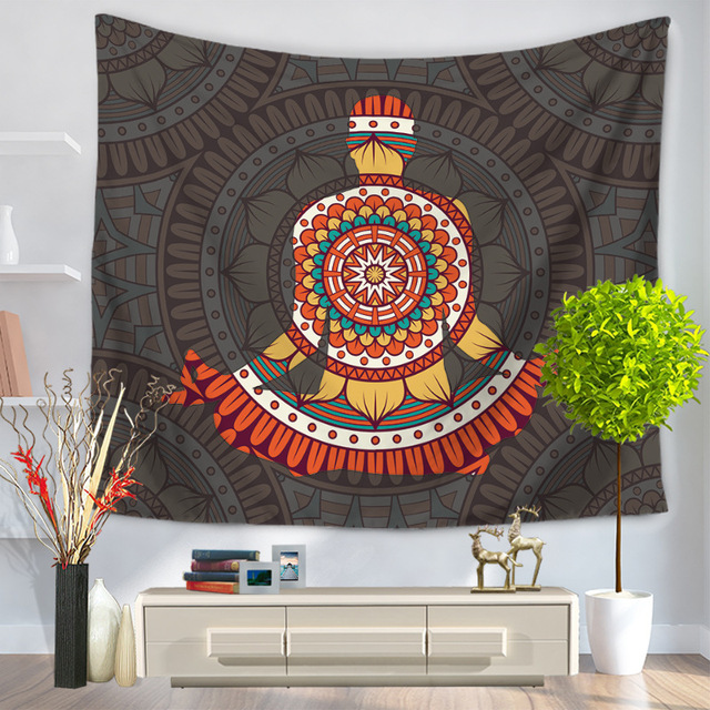Mandala Tapestry Polyester National Style Printed Animal India Retail Wall Cloth Tapestries Home Decoration Wall Blankets Tapiz