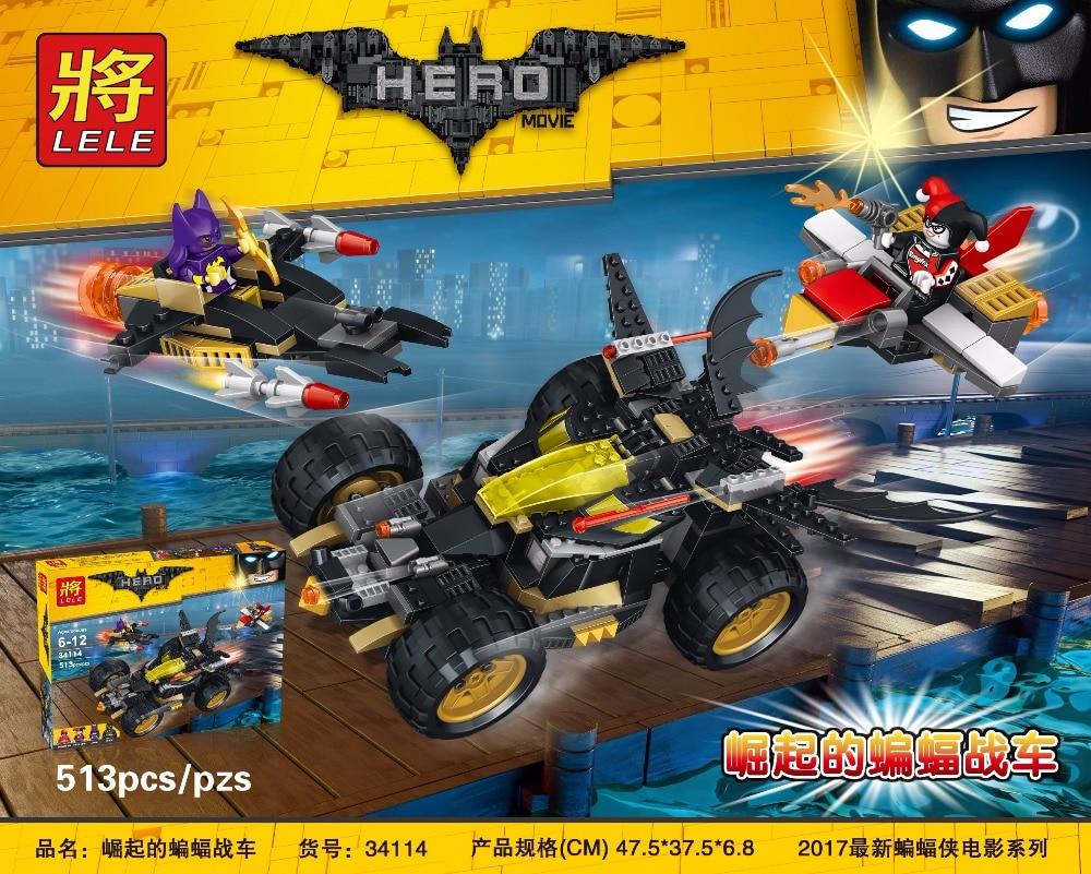 ФОТО New LELE 34114 Batman Movie Series The Batman's chariot Set Building Blocks Bricks Educational Toys with lepin