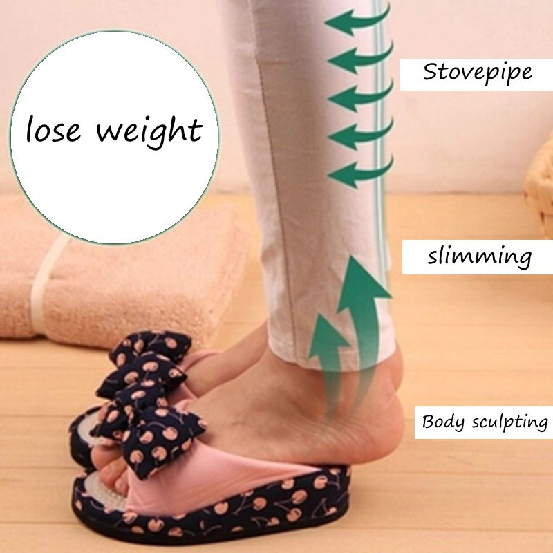 SWYIVY Women Slimming Shoes Stovepipe Body Sculpting Half-feet Shoes 2018 Lose Wight Massage Female Toning Shoes Negative Heel