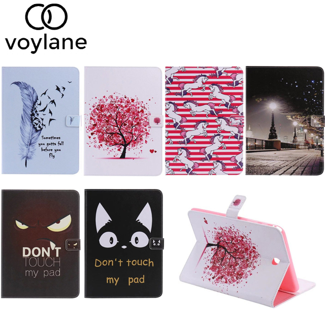 "For Galaxy Tab A 9.7 Protective leather cover case for samsung GALAXY Tab A 9.7 T555 T550 9.7"" tablet cases cat Series"