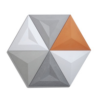 concrete Wall molds 3D TV background wall brick mold stone molds 3D decorative wall panels Triangular wall brick molds