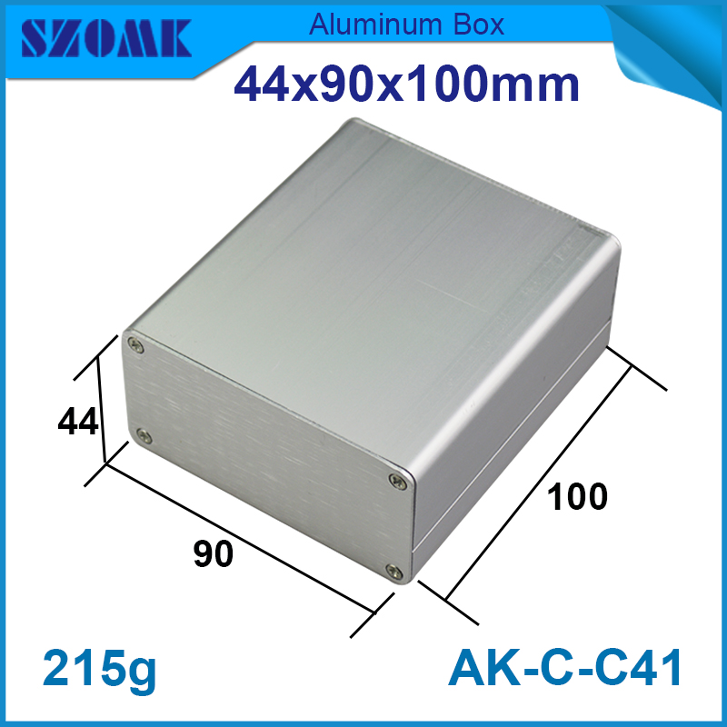 4 pieces extruded aluminum enclosures electronics 44*90*100mm 1.73*3.54*3.94inch electrical box 1 piece free shipping aluminum box distribution box 96x33x140 mm aluminum enclosures for electronics