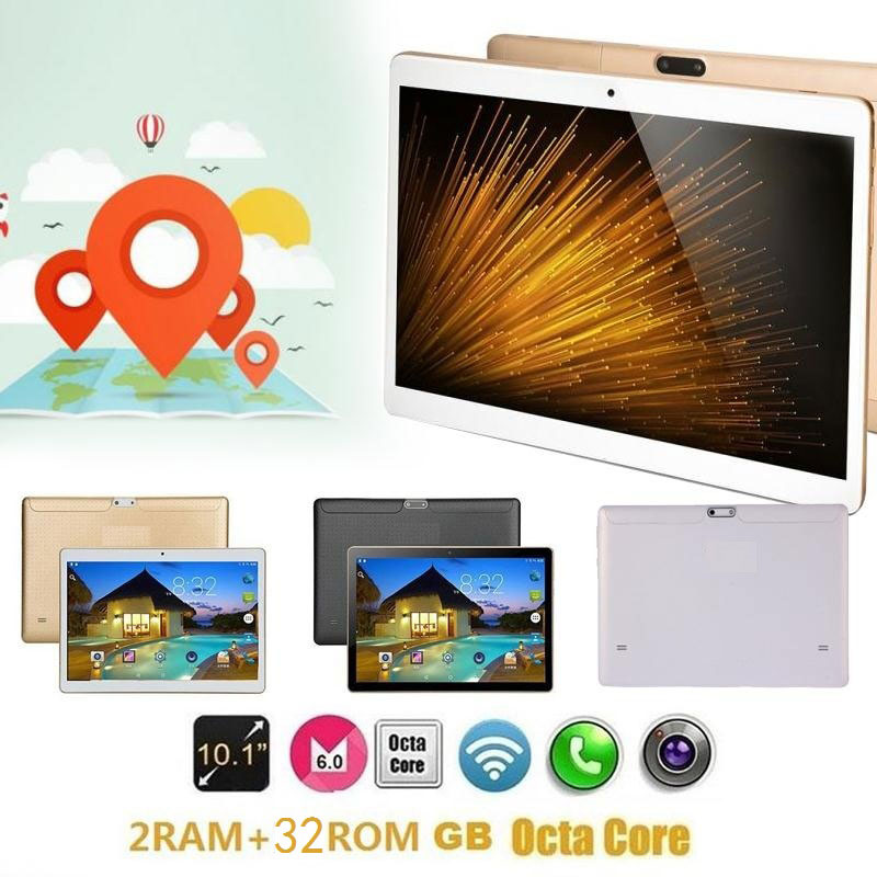HOT Tablet 10.1 inch Octa-Core Tablet Android5.1 2GB RAM 32GB ROM Wifi 3G call Dual SIM dual standby TF USB IPS 200W Pixels teclast p98 9 7 ips octa core android 4 4 3g tablet pc w 2gb ram 16gb rom dual cam tf gold