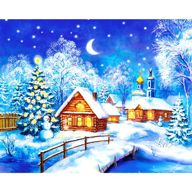Cutiepop Hot Sale Cute Cartoon Snow Town Diamond Painting