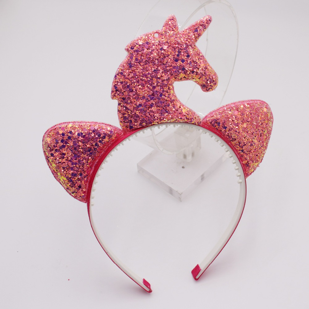 Birthday Party Cat Ears: Fashion Sequin Cat Ears Hairband For Girl Cute Fairy