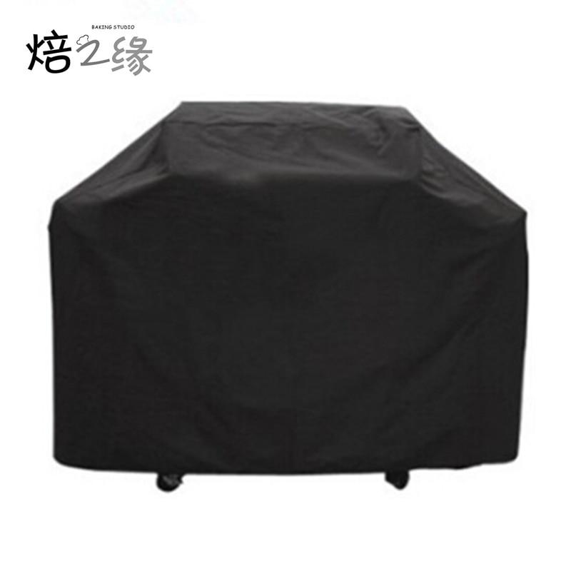 7 ზომის შავი წყალგაუმტარი Bbq Cover გარე წვიმის მწვადი მწვადი გრილის დამცავი გაზის ნახშირის ელექტრო მწვადი გრილი
