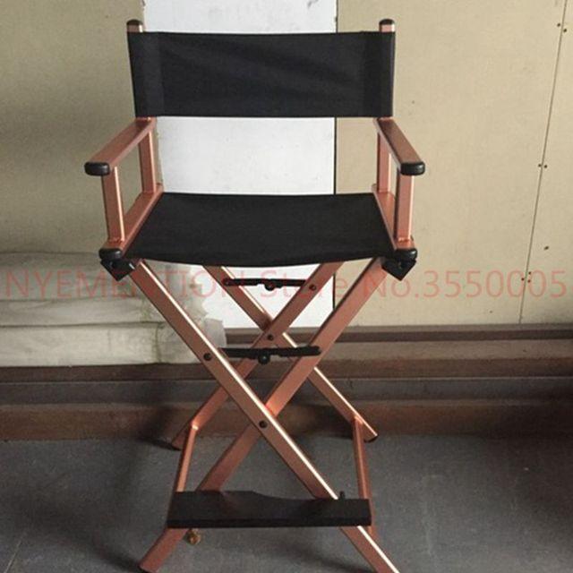 Aluminum Frame Makeup Artist Director Chair Foldable Outdoor Furniture Lightweight Portable Folding Director Makeup Chair 1pcs