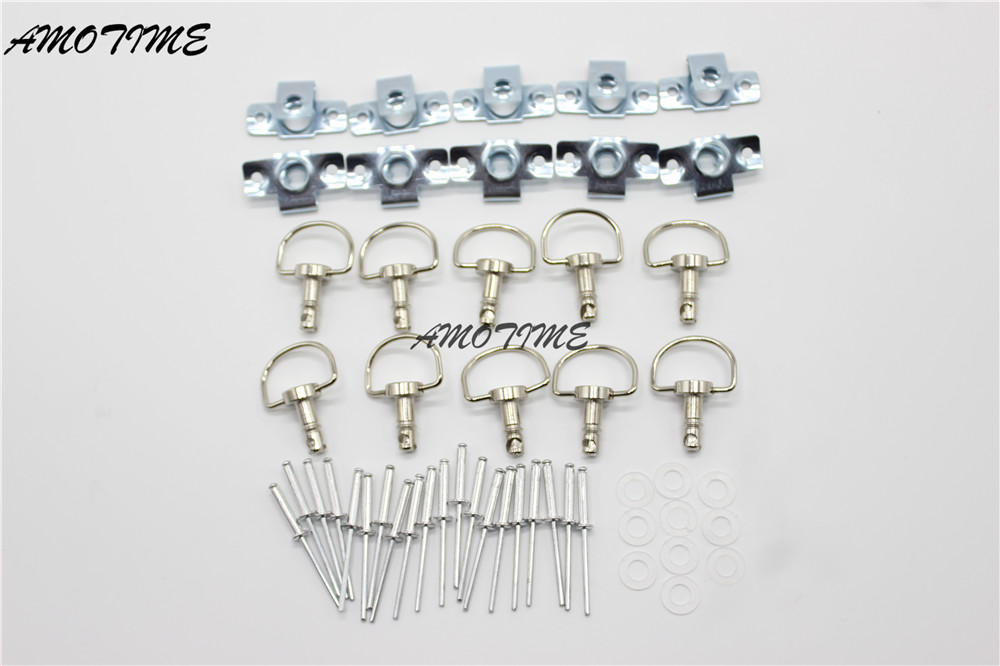 10 Sets turn Quick Release Fastener Race Fairing For Suzuki Kawasaki Honda Yamaha Ktm Bmw Ducati Fairings