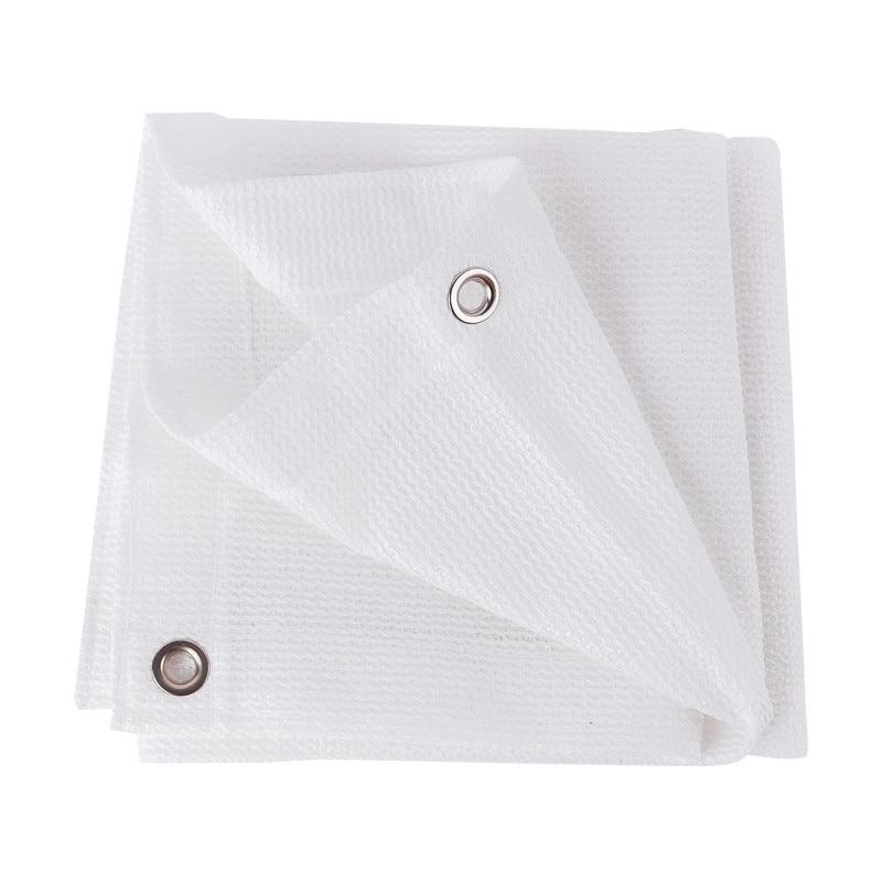 Ijverig Multi Size Volledige Wit Zon Onderdak Met Hang Gat Per 1 Meter Zon Bescherming Schaduw Netto Voor Camping Tuin Balkon Auto Luifel