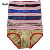 5PCS/Lot Sexy Underwear Men Briefs Cueca Pouch Pocket Underwear Male Breathable Shorts Sexy Cotton Underpants U Convex Briefs