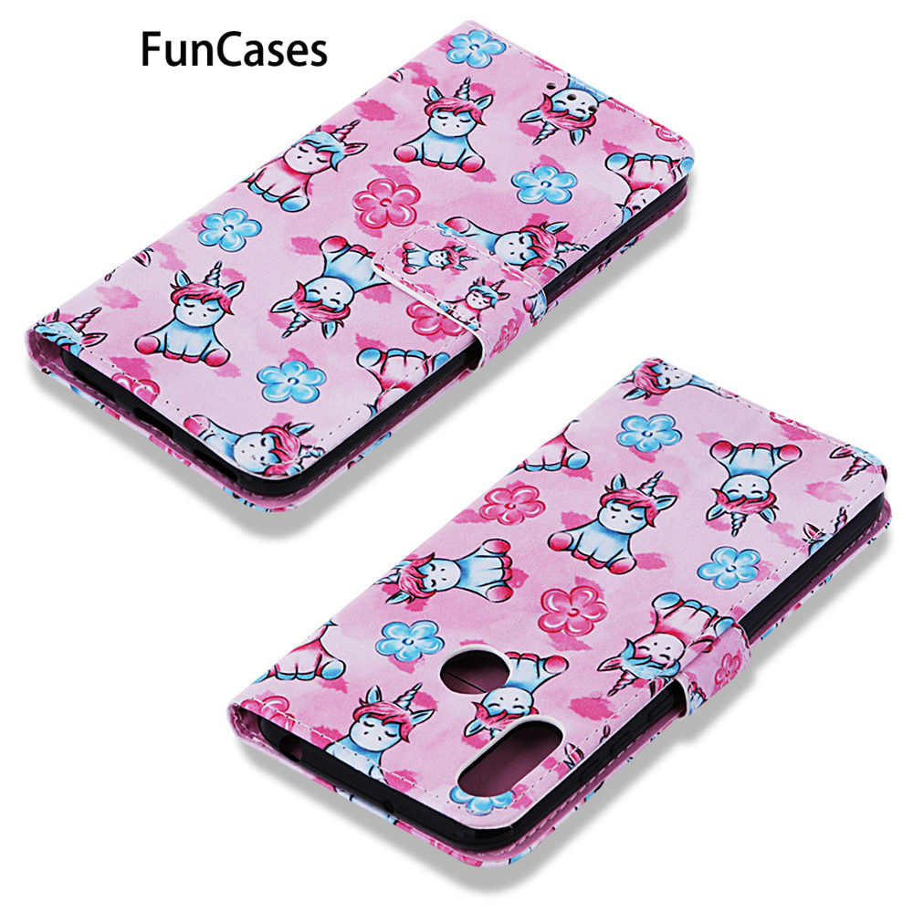 Animal PU Leather Phone Bag For etui Huawei Y6 2019 Silicone Case Carcaso New Cases sFor Positivo Huawei armor Honor 8A Play