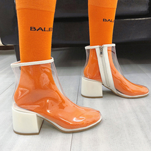 Transparent Boots Women Ankle For 2019 New Clear Sexy Ladies Glitter High Heel Fashion Rain