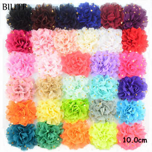 Hair-Accessories Flower Chiffon Girl Wholesale 500pcs/Lot with Rippled-Side Super-Quality/h0251