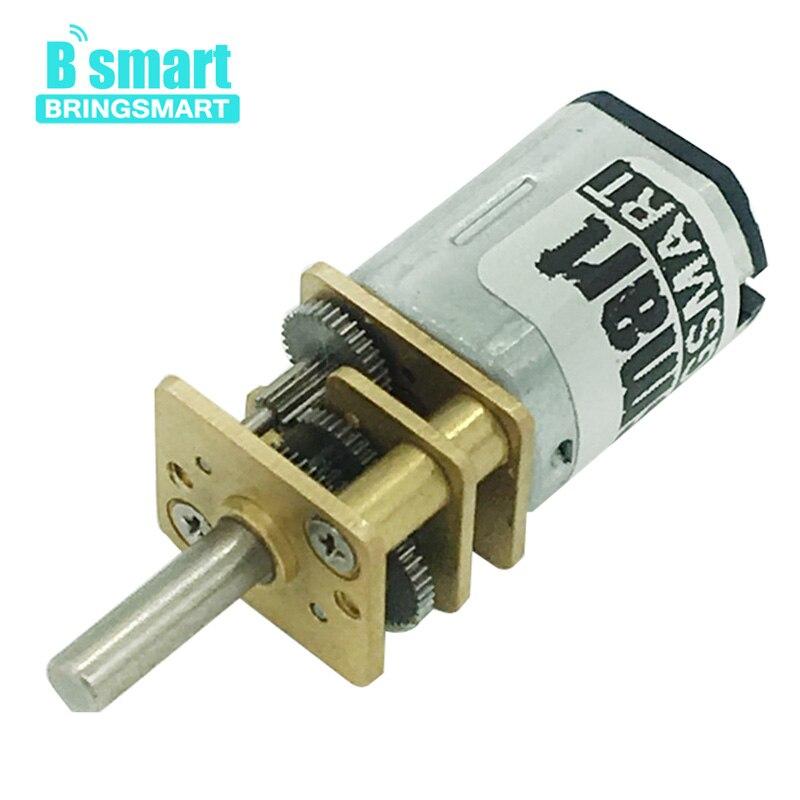 1pc Bringsmart N20 Micro motor Electric gear box motor 3v 6v 12v 15/30/50/60/100/200/300/500/600/1000/1500rpm цена и фото
