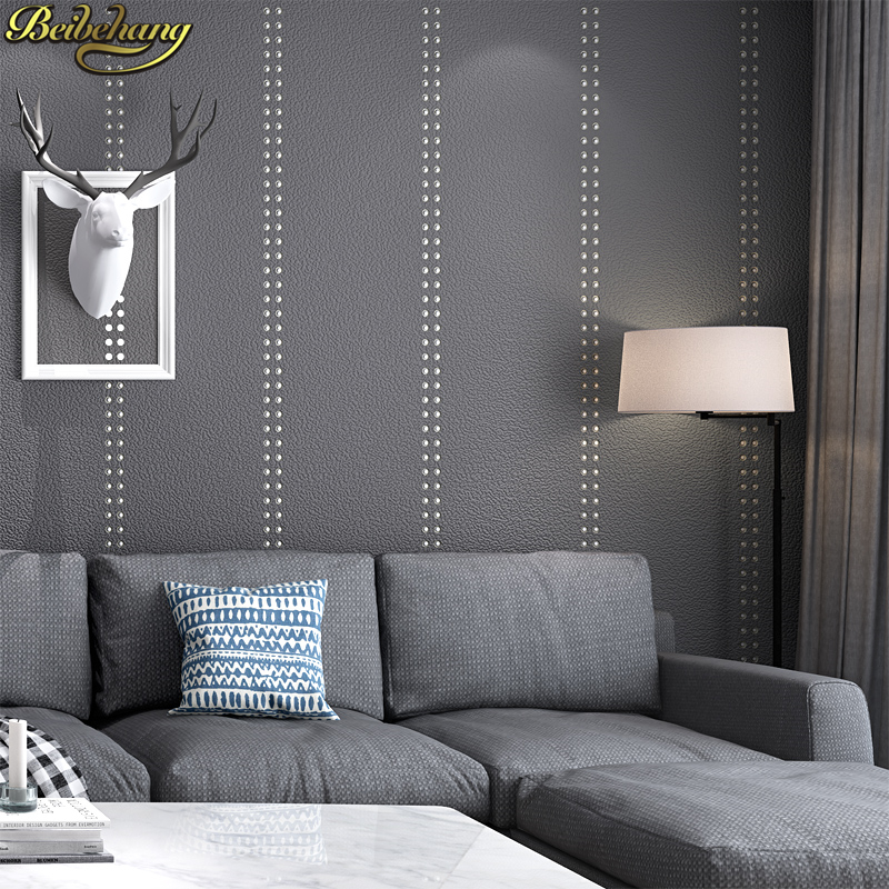 beibehang Luxury Rivet solid color wallpaper for wall paper for living room bedroom wall papers home
