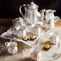 Керамика кофейный набор Европейский стиль чайный сервиз с подносом английский послеобеденный чайник чашка кофе подарочный набор