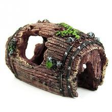 Горячая Распродажа Аквариум Искусственный бочонок Смола пещера-украшение ландшафтное украшение Водные Аксессуары для животных