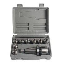 10 шт. NT40 фрезерный патрон Набор точность держатель инструмента Arbor Цанга 4 16 мм с ключом станок фрезерный инструменты