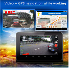 Best 7 Inch GPS Navigation DVR Camera With Rear view Camera & Radar Detector FHD 1080P G-Sensor Built in 16GB Free New Map