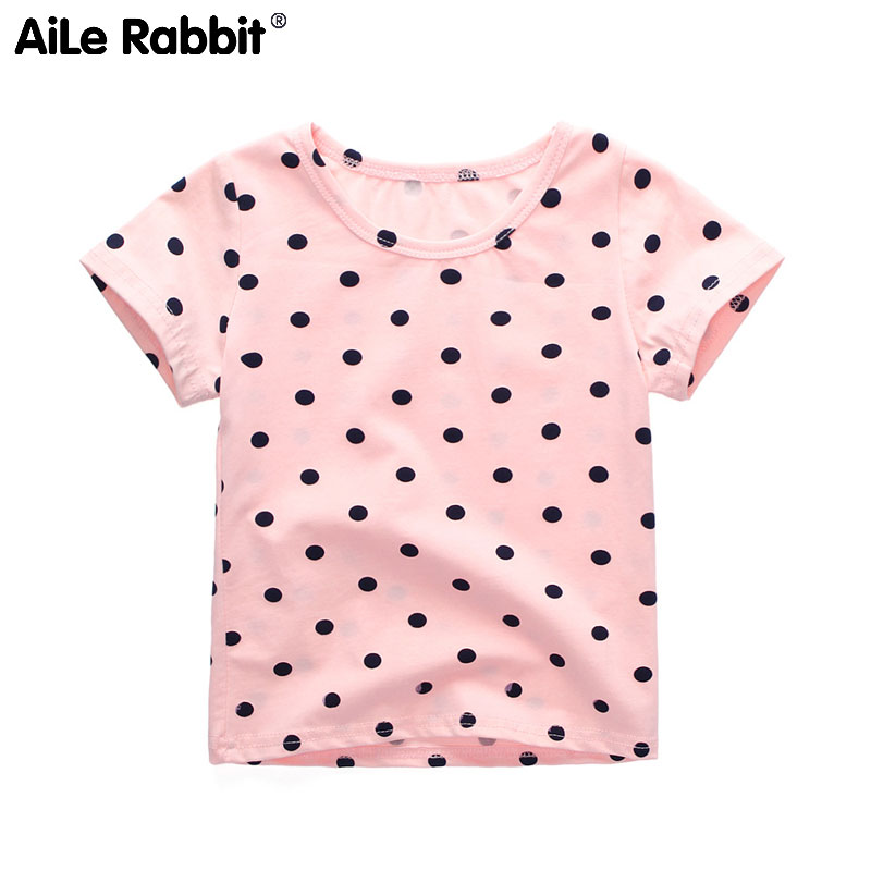 Cotton Shirt Girl Children's Summer Rabbit Aile K1 Korean-Version