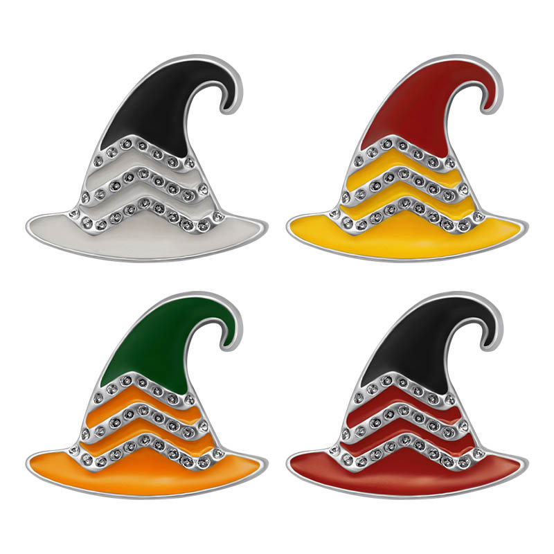 New Beauty Trendy Oil Magic Wizard Hat 18mm Snap Buttons Fit 18mm Snap Necklace Jewelry Wholesale KZ3442 Gift