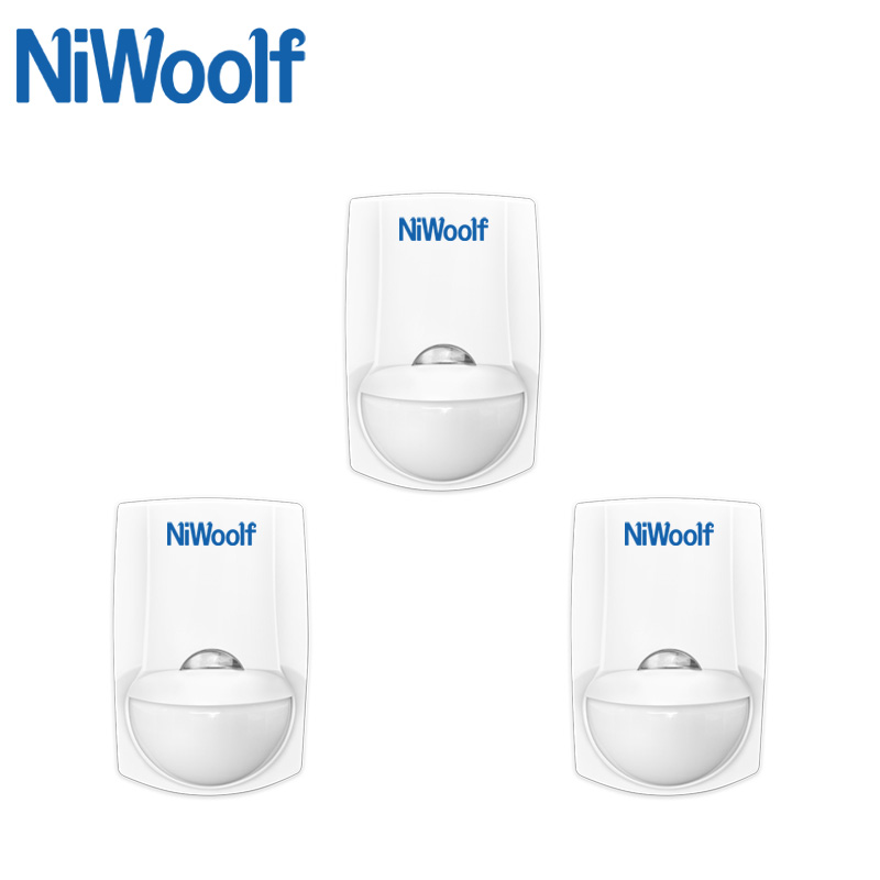 Wireless Passiive Infrared Motion Detector, Sensor Alarm, 1 Pieces RC-123A Battery Can Work 3 Years For This Detector