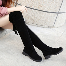 Faux Suede Slim Boots Sexy over the knee high women snow boots women's fashion winter thigh  boots shoes woman 05