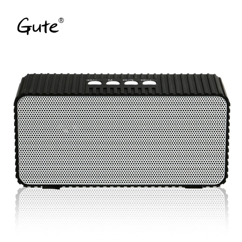 Gute hot square Bluetooth speaker wireless bass Radio FM enceinte bluetooth portable puissant caixa de som alto falante pls bul dbigness bluetooth speaker caixa de som portable bluetooth speaker wireless fm radio speaker with alarm clock led time display