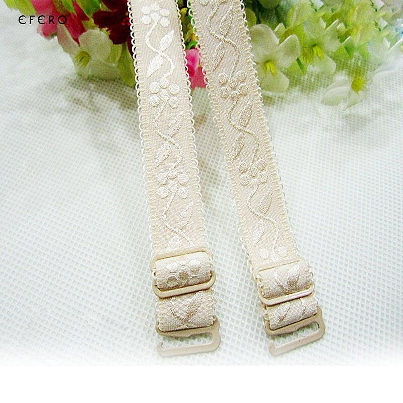 3Pairs Adjustable Double-shoulder Bra Shoulder Strap Floral Print Shoulder Strap Women Underwear Belt Bra Straps Lingerie Straps