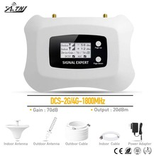 Répéteur de signal Homely et à la mode amplificateur de téléphone portable 2G 4G LCD DCS 1800 MHz amplificateur de Signal Mobile avec kit d'antenne Yagi