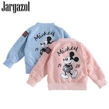 Jargazol Baby Boy Jacket Cartoon Mickey Letter Printed Autum