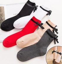 stripe one 2018 2 mx rig  women high  2017 Women Fashionable Patterns Cotton Winter Socks Cute Cartoon Middle Sock Female Short