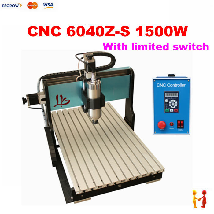 1500W CNC 6040 Router cutting/Engraving Drilling and Milling Machine for wood stone metal Aluminum with limited switch new cartoon children watch girl watches fashion boy kids student cute leather sports analog wrist watches relojes k519