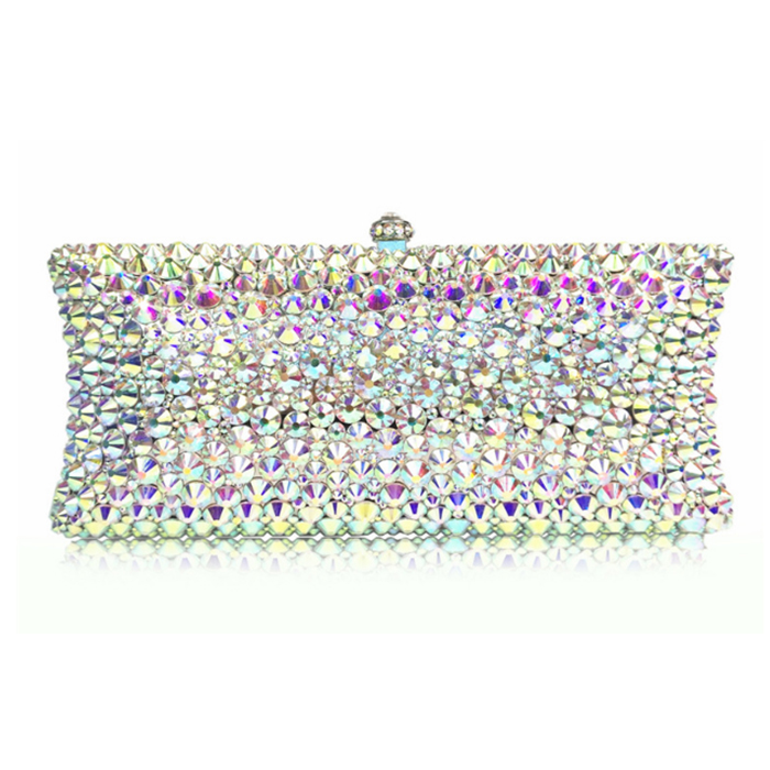 все цены на women silver crystal Beaded Evening Minaudiere Metal day Clutches Bag diamond Wedding Party Purse Bridal gift clutch bag Handbag онлайн