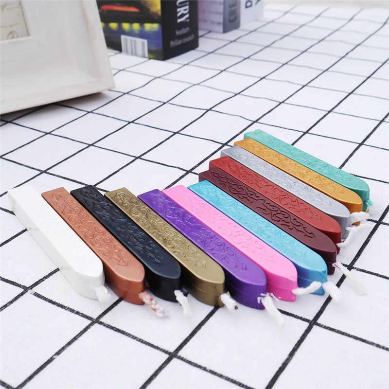 12 ألوان Hot البيع Vintage ختم ختم قضبان الشمع ل مغلف دعوة الزفاف ختم رسالة بطاقة شحن مجاني