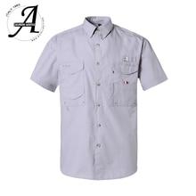 קצר שרוול דיג מזדמן חולצות הפתילה בד שמש הגנת מהיר יבש חיצוני גברים של קיץ חולצות לנשימה קמפינג חולצות