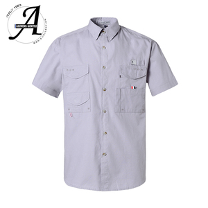 Image 1 - קצר שרוול דיג מזדמן חולצות הפתילה בד שמש הגנת מהיר יבש חיצוני גברים של קיץ חולצות לנשימה קמפינג חולצות