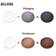 BCLEAR-gafas fotocromáticas de visión única, lentes ópticas para miopía, presbicia, color gris y marrón, 1,56