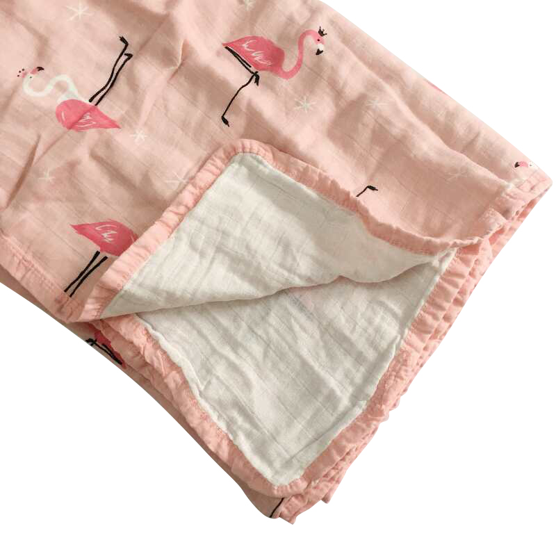 2 Layer Baby Blankets Newborn Muslin Cotton Swaddle Wrap