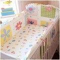 Promoção! 6 PCS alta qualidade fundamento do bebê cama Kit em torno de bonito e fantasia berço cama ( bumpers + folha + fronha )