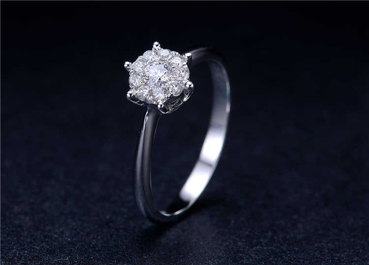 d3d159541 Detail Feedback Questions about Classic Lover Couple Rings 925 Silver Daisy  Flower Heads Classic CZ Setting Luxury Wedding Ring for Women Jewelry Gift  on ...